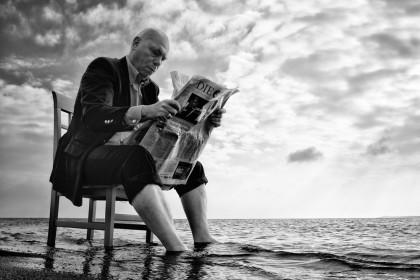 Foto: Nicole Oestreich. Die Welt ist heut am Meer.